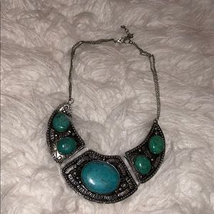 Jewelry - BLUE AND GREEN STONE NECKLACE